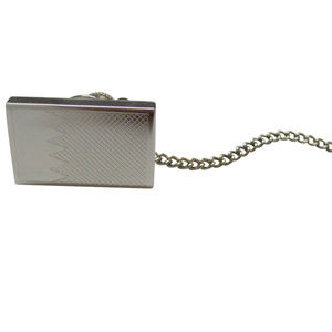 Silver Toned Etched Bahrain Flag Tie Tack